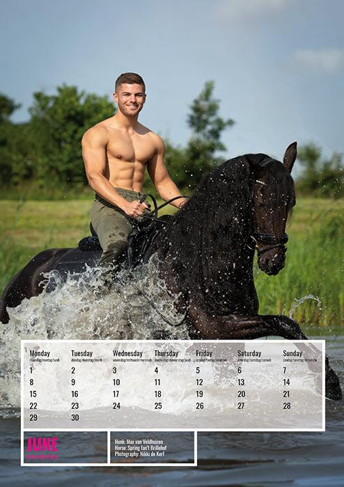 horse and hunk kalender 2020